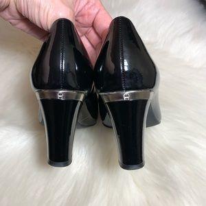 Etienne Aigner Shoes - Etienne Aigner E-Medea Black Patent Leather Heels